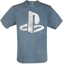 Playstation - Logo -T-skjorte - blå