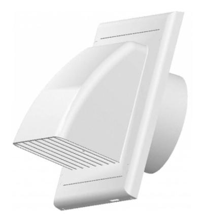 Ventilationskanaler ventilations rist der dækker tilbage Flap ABS h...