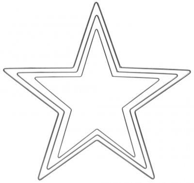 Eldgarden Stjärna, gråmålat järn (variant: Stor)
