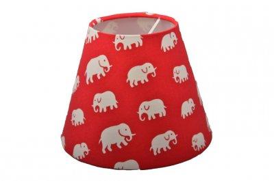 Lampskärm Elefant Röd, lin