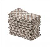 Axlings Linne 2-pack Handduk Schack brun/vit