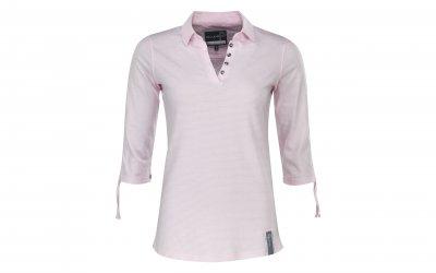 Pelle P W Jersey Polo 3/4 sleve Pink Stripe (Storlek: M)