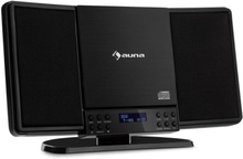 V14-DAB Vertikal-stereoanläggning CD FM och DAB+ tuner BT svart