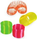 Neon leksaksspiral i plast