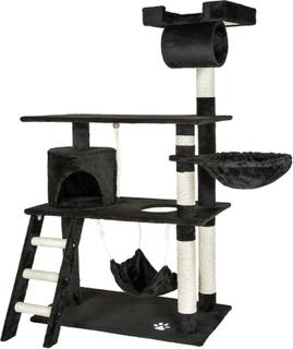 Katt klösträd / klösmöbel Martin svart av tectake