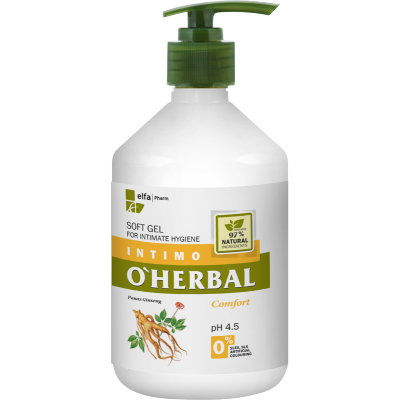 O'Herbal Intimate Hygiene Comfort Soft Gel Ginseng Extract 500 ml