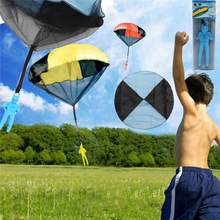 5PCS Random Color Skydiver Kids Toy Hand Throwing Parachute Kite Outdoor Play Game Toy