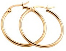 Everneed Mille Medium Hoop Gold 20 mm