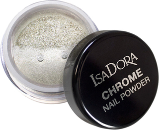 Kjøp IsaDora Chrome Nail Powder Mirror Silver, 6ml IsaDora Tilbehør Fri frakt