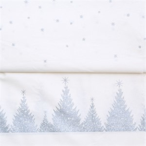 AU Maison - juledug i coated fabric - silver/white