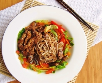 Soba Noodles with Pork and Vegetables