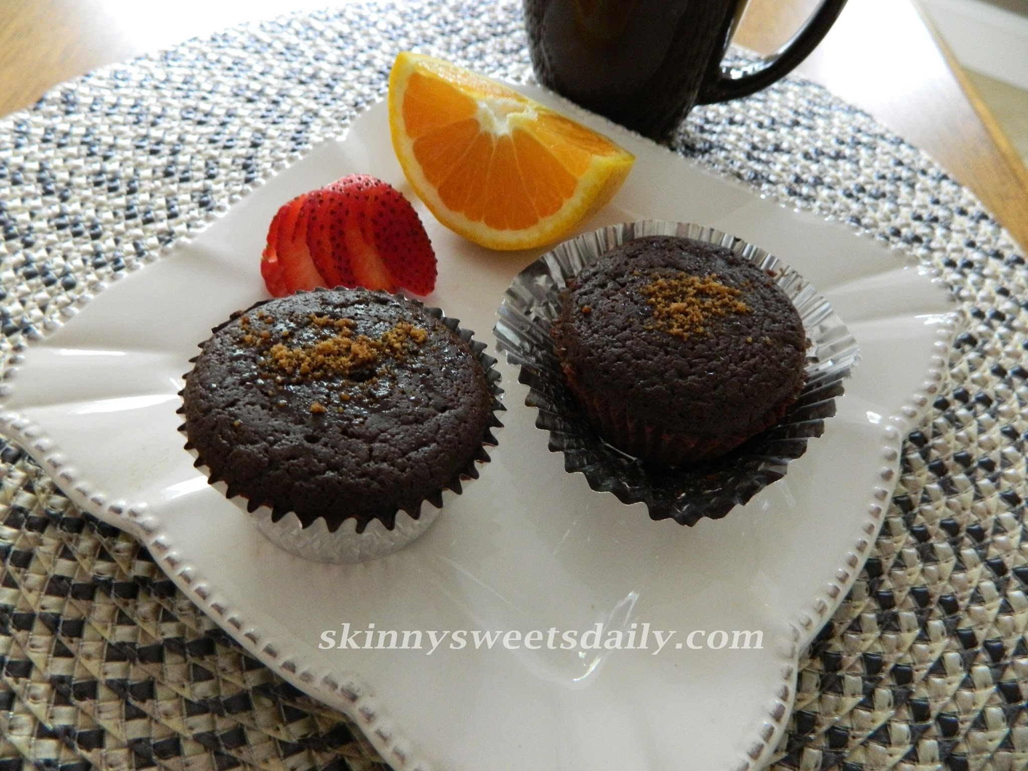 Healthy Low Fat Gluten Free Chocolate Muffins