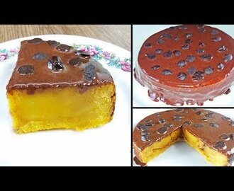 vanilla custard fudge cake recipe without oven | chocolate custard cake recipe - YouTube