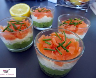Verrine saumon fumé avocat