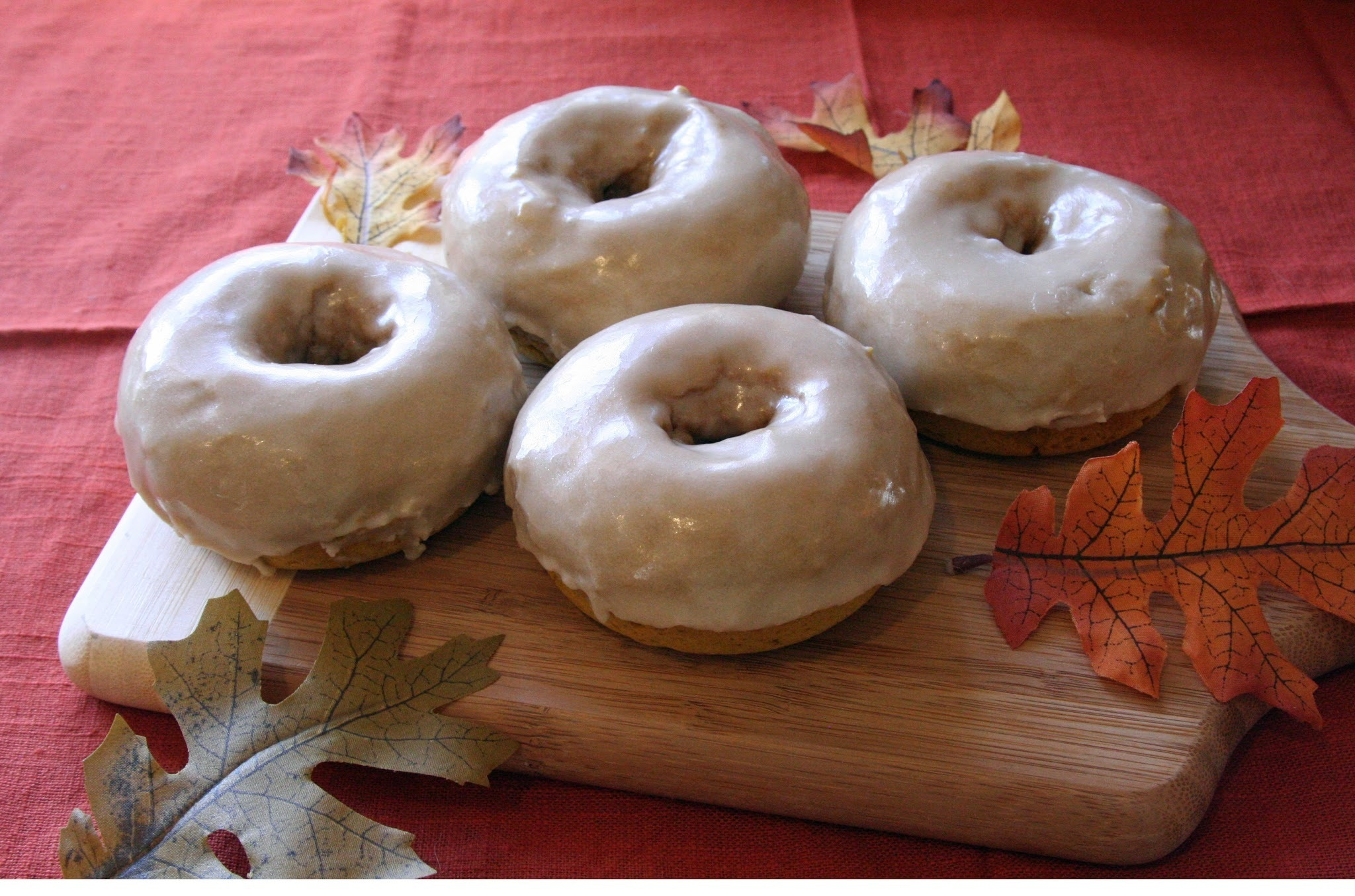 Pumpkin Spiced Donuts with Chai Icing #SundaySupper