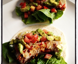 Lime and chilli fish tacos