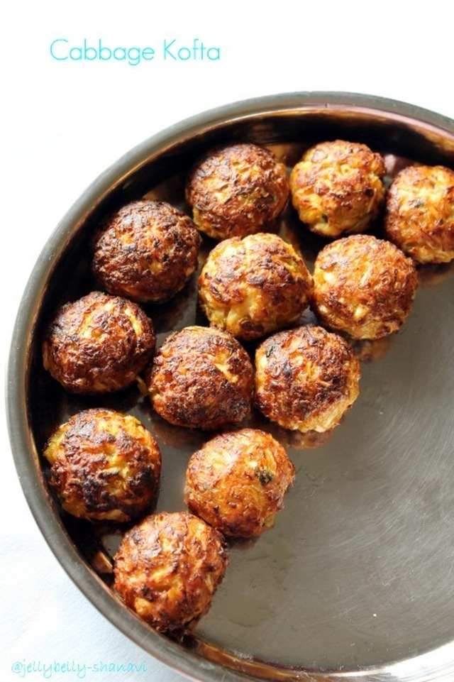 Cabbage Kofta Curry -- Guilt free version
