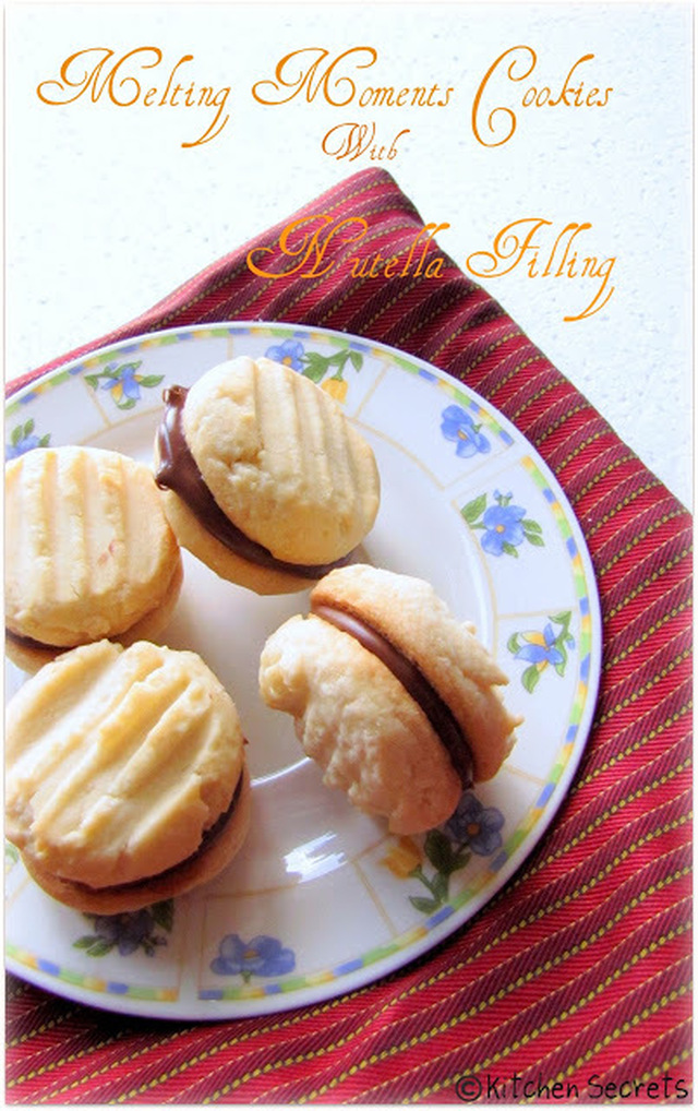 Melting Moments Cookies with Nutella Filling