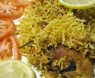 Dum Hyderabadi Chicken Biriyani