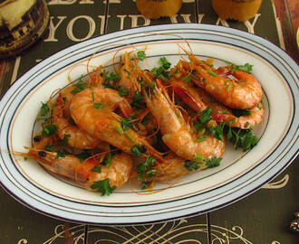 Fried shrimps with mustard | Food From Portugal