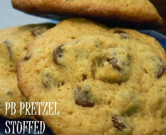 Peanut Butter Pretzel Stuffed Chocolate Chip Cookies