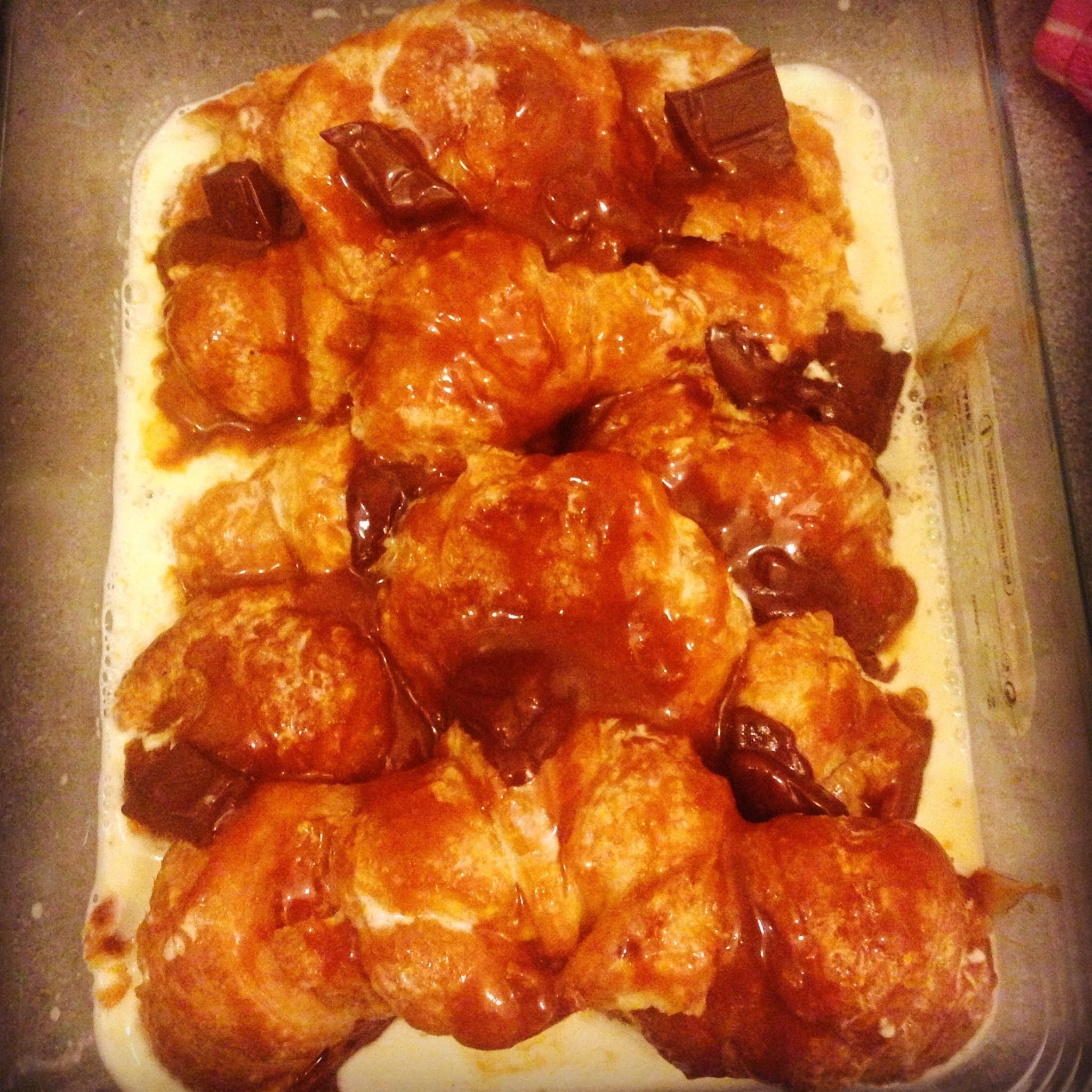 Recipe: Croissant Bread & Butter pudding with salted caramel and milk chocolate