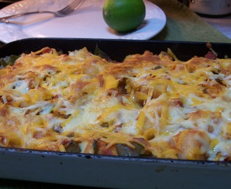 Gluten Free Chicken & Sweet Potato Enchiladas
