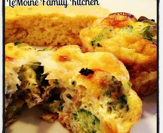 Broccoli & Breakfast Sausage Egg Muffins
