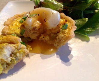 Smoked Haddock Tarts – a nod to kedgeree