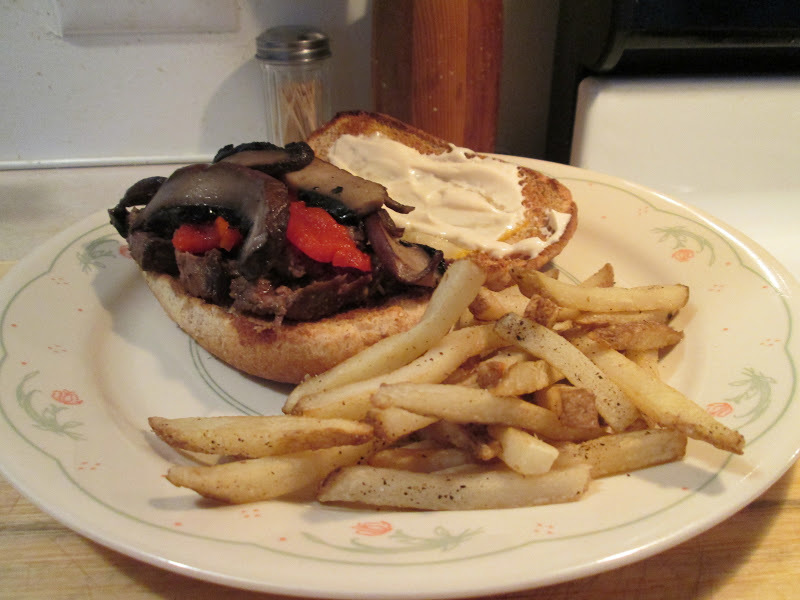 Steak and Cheese Hogies w/ Baked Fries