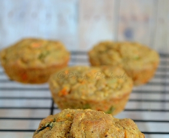 Oats Carrot Muffins- Savory and Egg-less