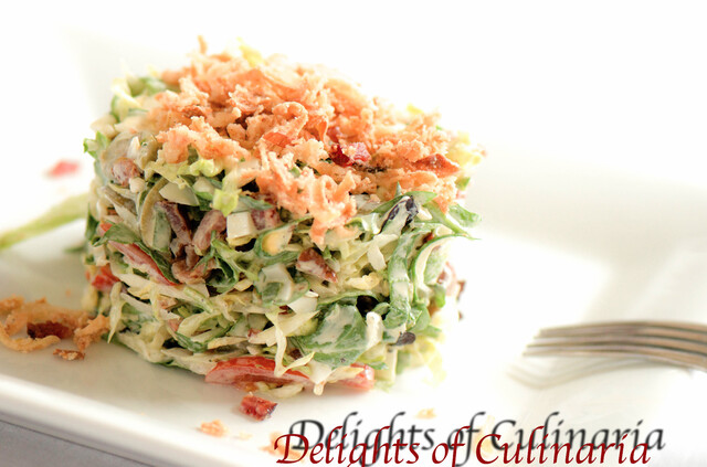 Chopped Salad with Creamy Lemon Basil Dressing