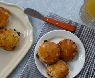 Scones aux raisins secs-zeste d'orange sans gluten