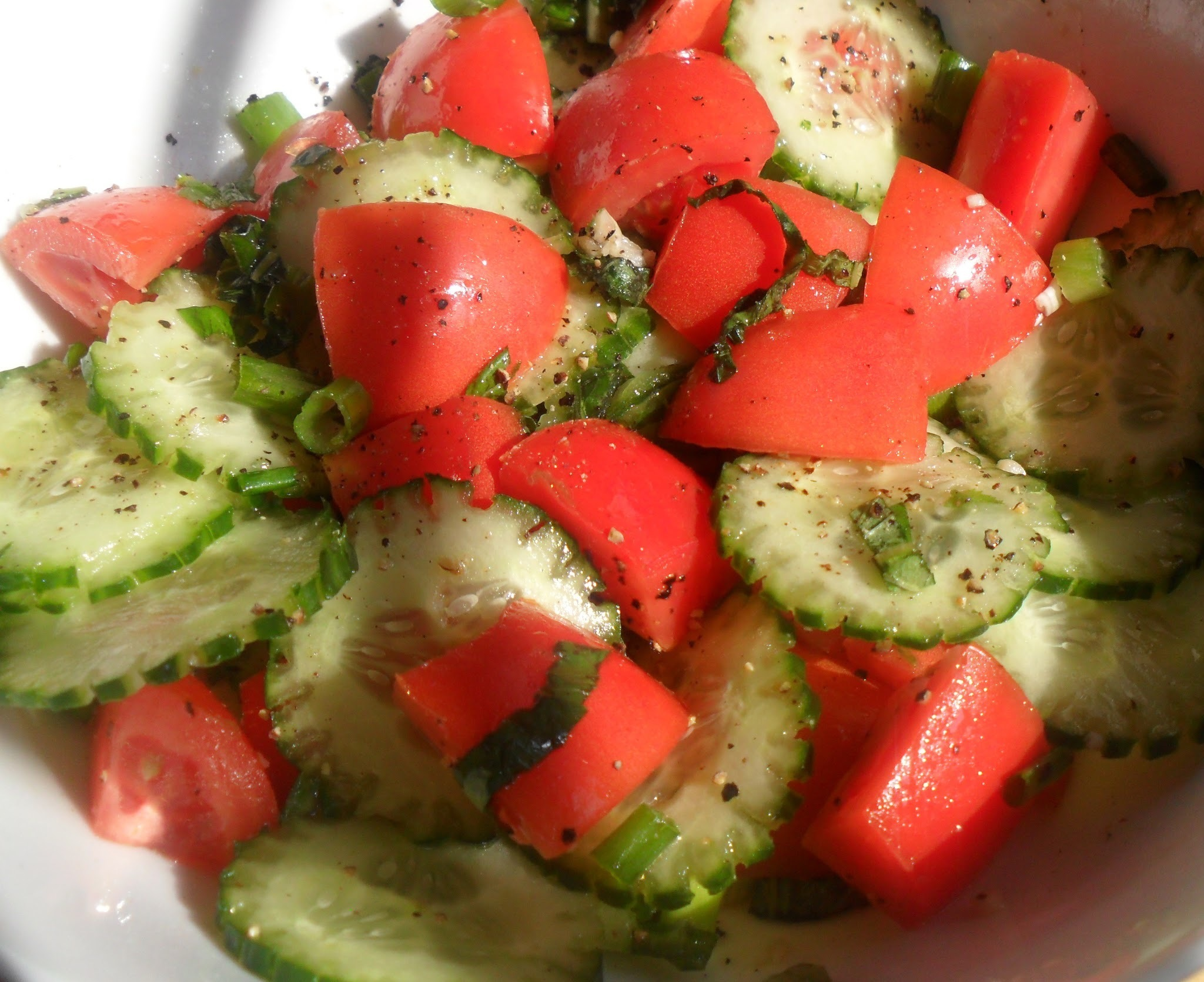 Refreshing Cucumber & Tomato Salad...Great Dish For Summer Buffets