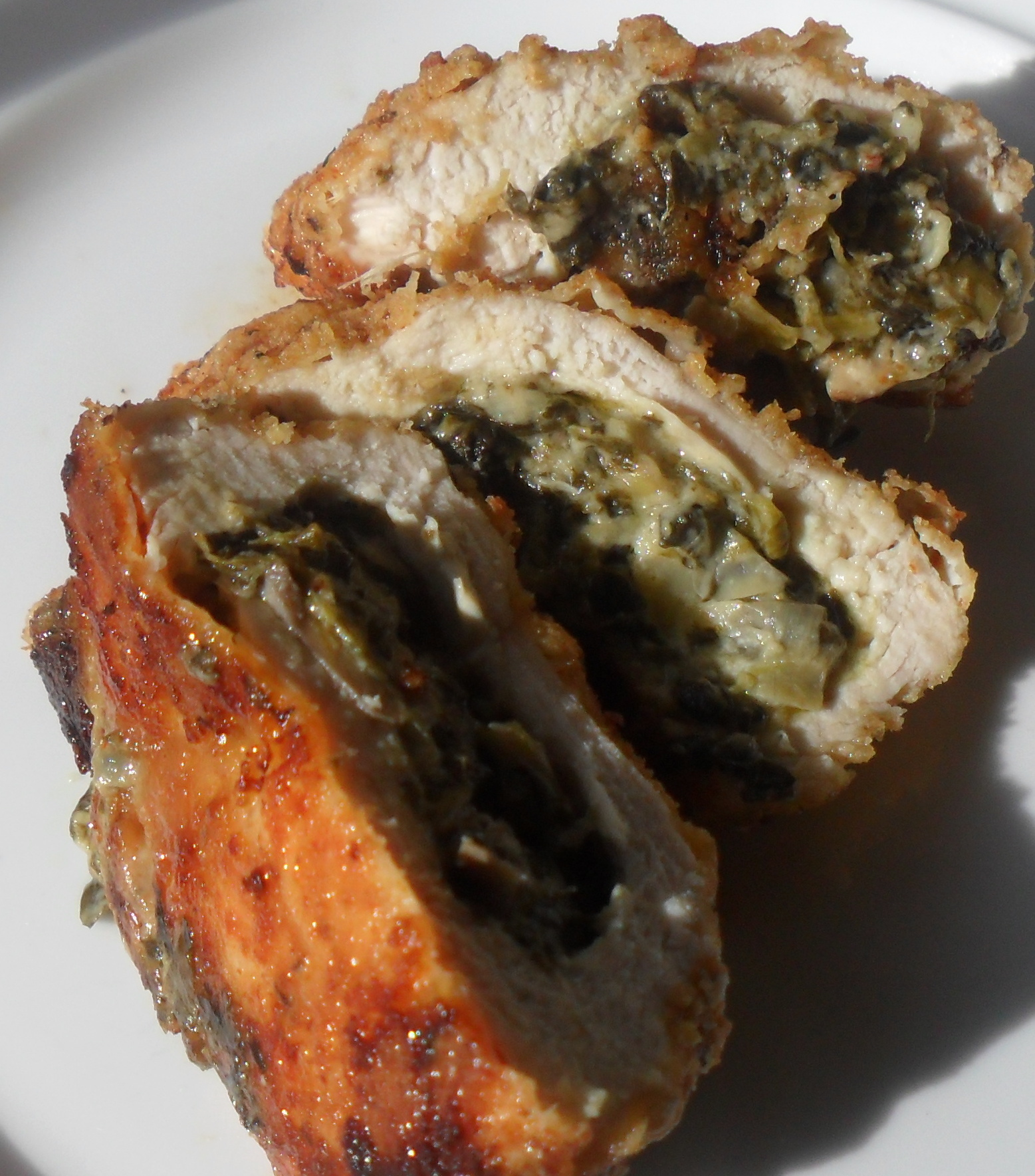 Spinach Stuffed Chicken Breasts...Refrigerator Challenge