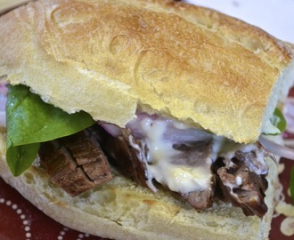 Steak Sandwiches with Pickled Onion and Herb Aioli