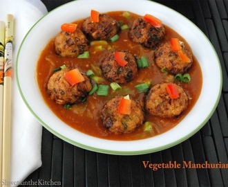 Vegetable Manchurian - Veg Manchurian Gravy