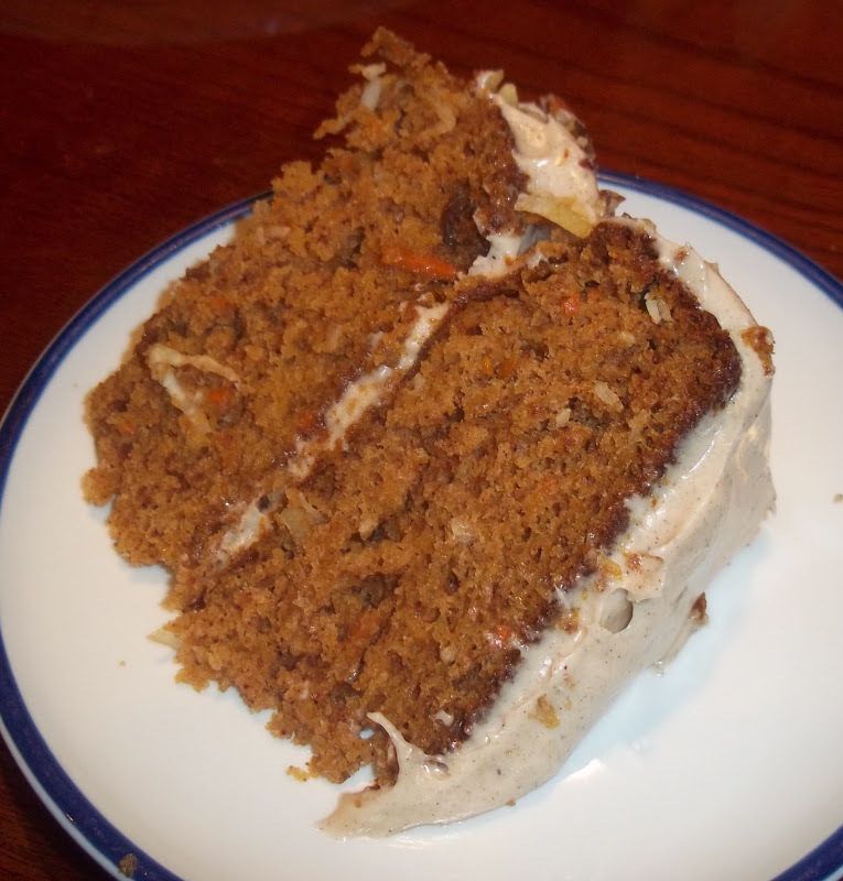 Pumpkin Carrot Cake with Cinnamon cream cheese frosting