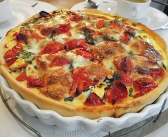 Quiche met ratatouille