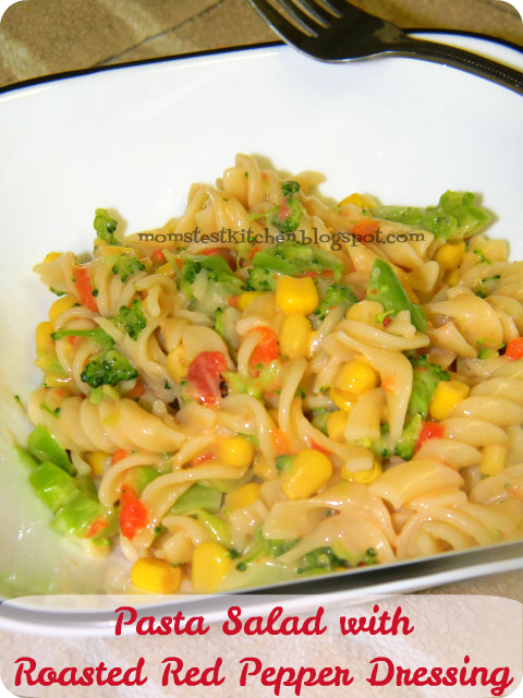 Pasta Salad with Roasted Red Pepper Dressing