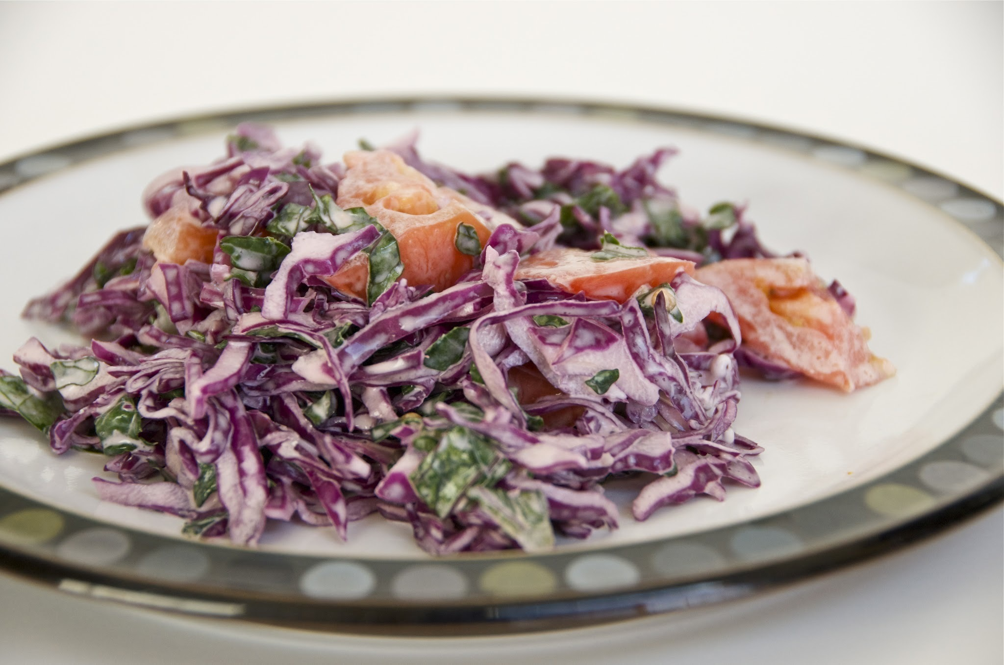 Red Cabbage and Kale Salad