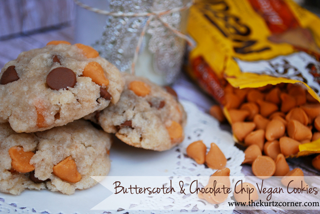 Butterscotch and Chocolate Chip Vegan Cookies By The Kurtz Corner (Guest Post)
