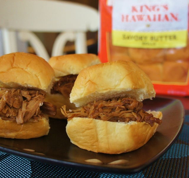 Slow Cooker (Crock-pot) Hoisin Shredded Pork Sliders