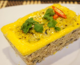 Cha Trung (Vietnamese egg meatloaf)