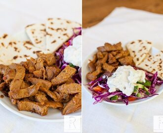 Viana Vegan Gyros with Tzatziki Sauce and Persian Cucumber Salad