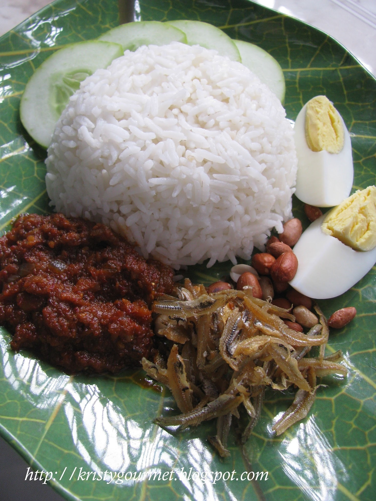 Nasi Lemak Kukus @ Steamed Coconut Rice