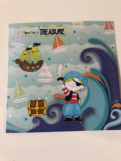 You're a Treasure Pirate Card for Kids