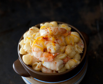 Stovetop Macaroni and Cheese with Shrimp - Perfect Comfort Food