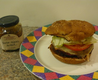 Stonewall Kitchen Mustard Recipe Contest: Classic Provolone Cheeseburger with Bourbon Molasses Mustard