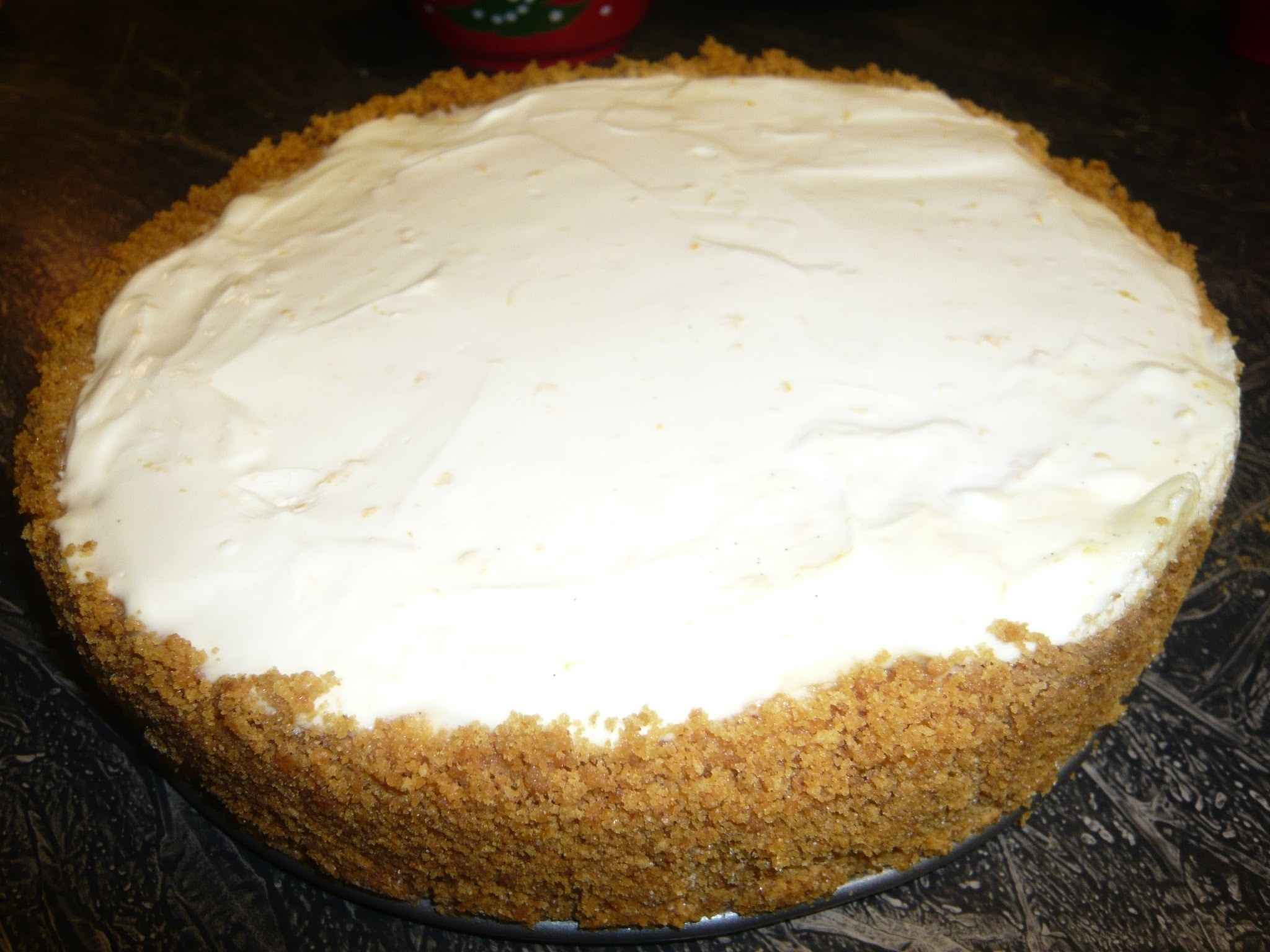 Marx Foods Recipe: Orangelicious Bourbon Vanilla Bean Cheesecake